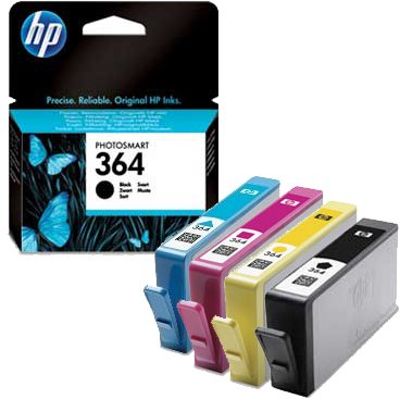 HP No.364 Ink Cartridges - Black/ Cyan/ Magenta/ Yellow