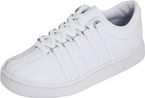 K Swiss The Classic Womens Leather Trainers / Shoes - White - SIZE EU 41
