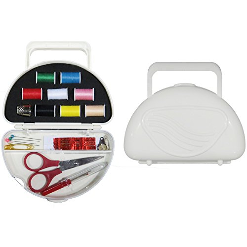 22 Pcs Portable Travel Sewing Kit W/ Carrying Case Thread Needle Fix Diy