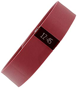 Fitbit Men's Charge CHARGE-BURGUNDY-LG Red Silicone Quartz Watch