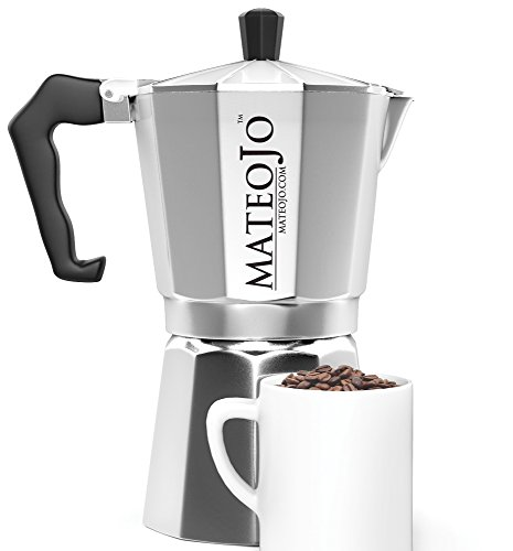 Cuban Coffee Maker Name : Stovetop Espresso Maker - Italian Moka Pot - Cafetera - Cuban Coffee Machine - 6 Cups by MateoJo ...