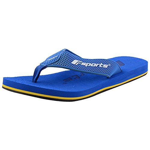 c169092794b29f F-Sports Blue Comprassed Latex Footbed  TPU Upper Flip Flops For Men ...