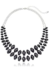 2 Row Color Block Rondelles Necklace, 18""