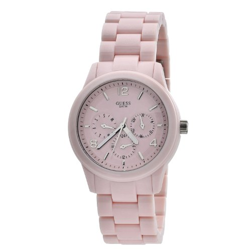 Guess Ladies Analogue Watch W11603L3 with Pink Dial