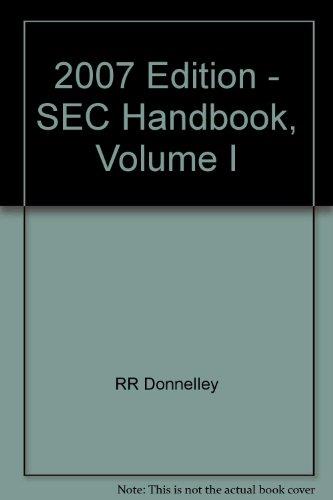 2007 Edition - Sec Handbook, Volume I