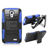 Phone Case for Lg Access LTE Blue Edge Cover Kickstand Combo Holster Belt Clip L31g