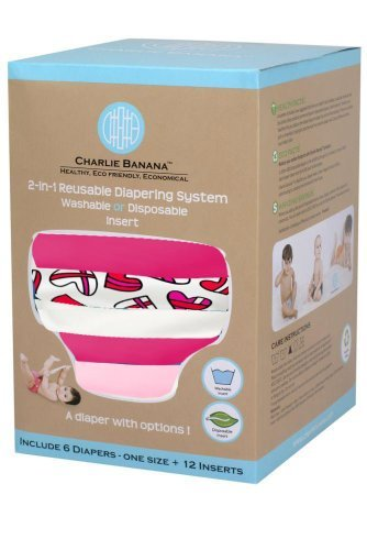 Charlie Banana® 2-In-1 Reusable Diapers - 6 Pack - Kate front-823703