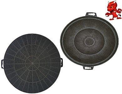 Sparset 2 Filtres À Charbon Actif Filtre Filtre charbon pour hotte Hotte d'aspiration Neff DKA13 , DKA19 , D8602 EN ACIER INOXYDABLE