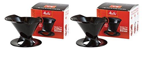 Melitta Ready Set Joe Single Cup Coffee Brewer, Black – 2 Pack