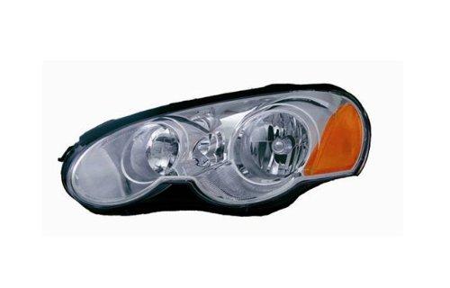 2003-2005 Chrysler Sebring Coupe Ccfl Halo Projector Headlights /W Amber (Black)