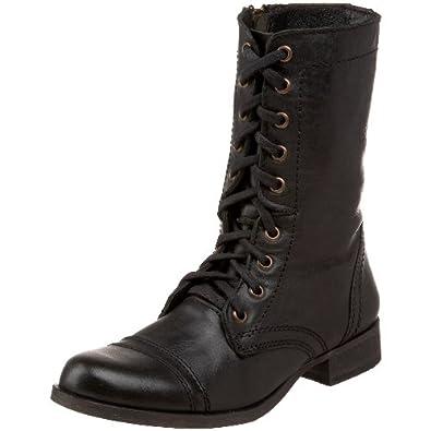 Steve Madden Women's Troopa Boot , Black Leather , 5.5 M US