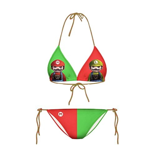 Mario Bros Halter Neck Bikini