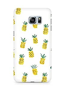 Amez designer printed 3d premium high quality back case cover for Samsung Galaxy S6 Edge Plus (Pineapple Pattern 2)