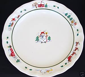Pfaltzgraff Snow Village Dinner Plate