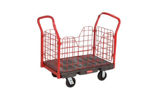 Rubbermaid Commercial FG448400 Side Panel Platform Truck, 2000 lbs Capacity, 36