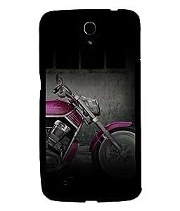 PRINTVISA Premium Metallic Insert Back Case Cover for Samsung Galaxy Mega 6.3 - D6123
