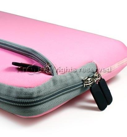 Kroo Pink Neoprene Sleeve Carrying Instance Cover for Dell Latitude 2120 netbook+nano stapler