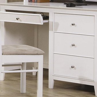 Buy Low Price Comfortable Selena White Computer Desk by Coaster Furniture (B002VDJYCE)