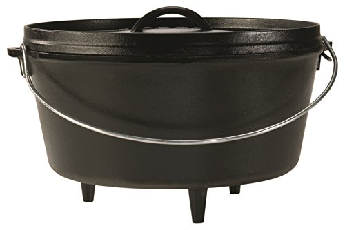 Lodge L12DCO3 Logic 8-Quart Pre-Seasoned Cast-Iron Camp Dutch Oven