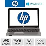 "HP ProBook 4545s 15.6"" Inch Notebook PC, AMD Dual-Core A6-4400M 2.7GHz, 8GB DDR3, 750GB HDD, DVDRW, AMD Radeon HD 7520G, Windows 7, Pro 64-bit / Windows 8 Pro 64-bit"