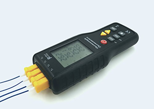 Perfect-Prime TC41, 4-Channel K-Type Digital Thermometer Thermocouple Sensor -200~1372°C/2501°F , 20 x 4 Data Log Storage Function (Digital Thermometer K Type compare prices)