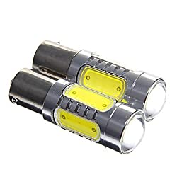 See 1156 7.5W 500lm 5-LED White Light Car Backup Light - (DC12-24V 2PCS) Details