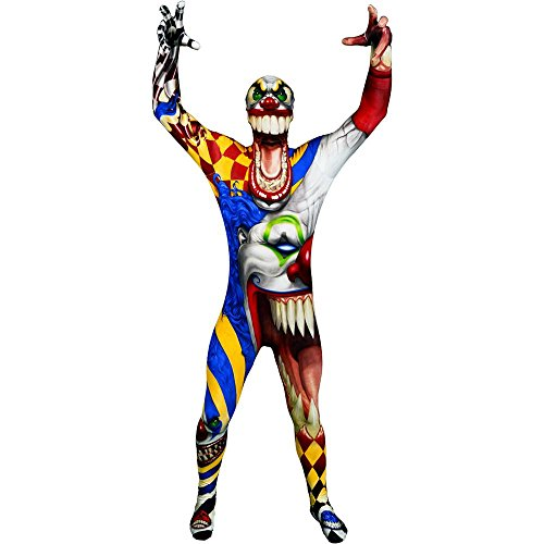 Scary Clown Morphsuit Adult Costume
