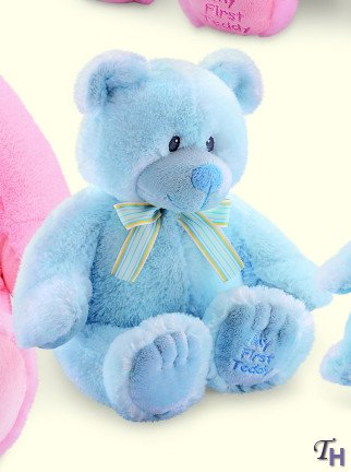 Russ Berrie My First Teddy Bear Blue 17''