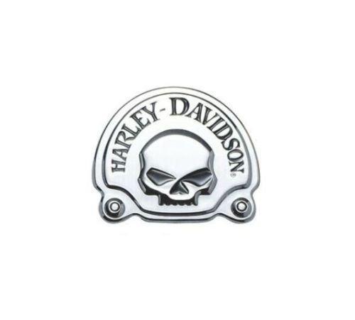 Medaglione Emblema Skull Cromato Originale Harley Davidson
