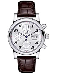 MENS MONTBLANC STAR 4810 AUTOMATIC DAY DATE STEEL CHRONOGRAPH WATCH 106466