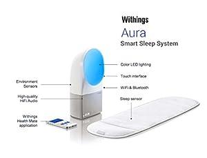 Withings Aura Système de sommeil: Réveil lumineux et analyse du sommeil