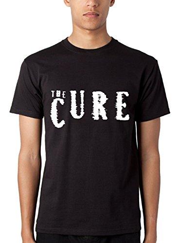 T-shirt Uomo The Cure - Maglietta indie band 100% cotone LaMAGLIERIA,M, Nero