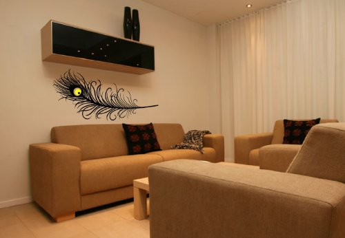 Peacock Feather - Vinyl Wall Art Decal Stickers Decor Graphics