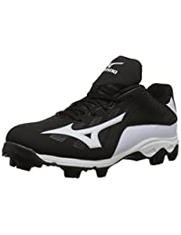 Mizuno 9 Spike ADV YTH FRHSE 8 BK-WH Youth Molded Cleat (Little Kid/Big Kid)