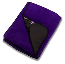 Go-Blanket Waterproof Polartec Picnic Blanket - Blue Plum (Purple)