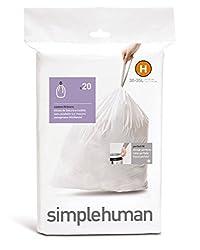 Simple Human Trash Can Liners 8 Gal. 1.18mil Plastic 20 / Bag