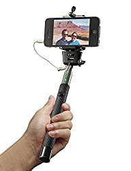 Selfie Stick – Best Monopod! Sticks Work with iPhone 6 6Plus 5 5s 5c 4 Samsung 6 5 4 4s & Digital…