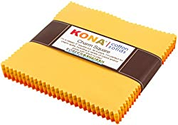 Studio RK Kona Cotton Solids Citrus Burst Charm Squares 42 5-inch Squares Charm Pack Robert Kaufman Fabrics CHS-342-42