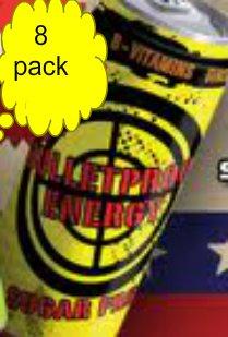 8 Pack - Bulletproof Energy Sugar Free - 16Oz.