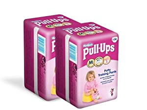Huggies Pull Ups Convenience Fille Taille 5  (11-18 kg) x 14 Couches Lot de 2