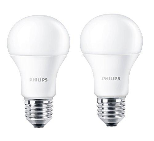 Philips LED Lampe ersetzt 60 W, EEK A+, E27, warmweiß (2700 Kelvin), 806 Lumen, matt, Doppelpack, 8718696491102
