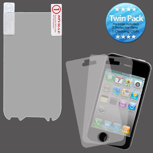Mybat Htcmyth4Gsllcdscprtw Lcd Screen Protector For Htc My Touch 4G Slide - Retail Packaging - Twin Pack
