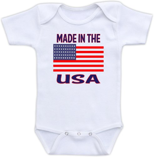 Made In The Usa - Cute Baby Onesie (3-6M)