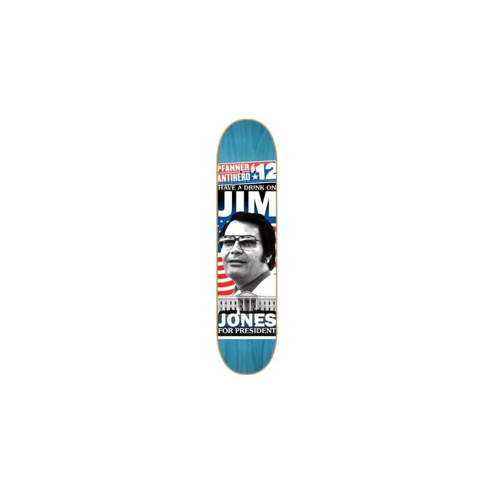 b1aa63f4956 Anti Hero Pfanner Campaign Deck 8.02 Turquoise Skateboard Decks on ...