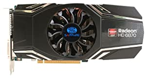SAPPHIRE AMD Radeon HD 6870 1GB GDDR5 PCIE Graphics Card