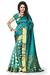 Bahucharaji Creation New Green Colure Cotton Woman Silk Saree