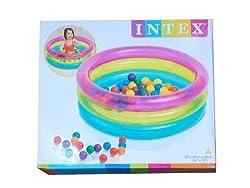 INTEX BIG Multi Colour INFLATABLE BABY POOL BATH WATER TUB FOR KIDS