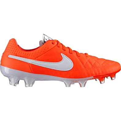 Nike TIEMPO LEGEND V FG Mens Soccer Total Crimson Metallic Silver White US sz. by Nike