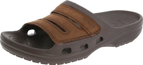 crocs Men's Yukon Slide Slide Sandal,Espresso,9 M Us