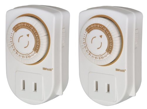 Woods 50006 Indoor 24-Hour Mechanical Outlet Timer, Daily Settings, 2-Pack (Timer Outlet Switch compare prices)